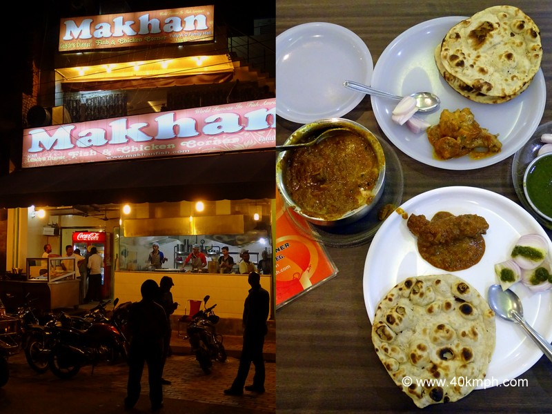 Dinner at Makhan Fish and Chicken Corner, Majitha Road, Amritsar, Punjab