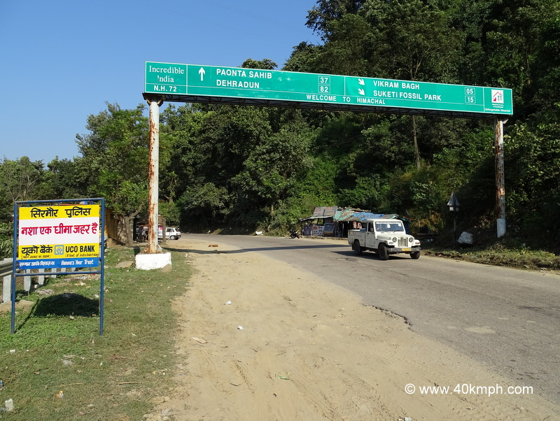 Distance from Nahan (Himachal Pradesh) to Various Places