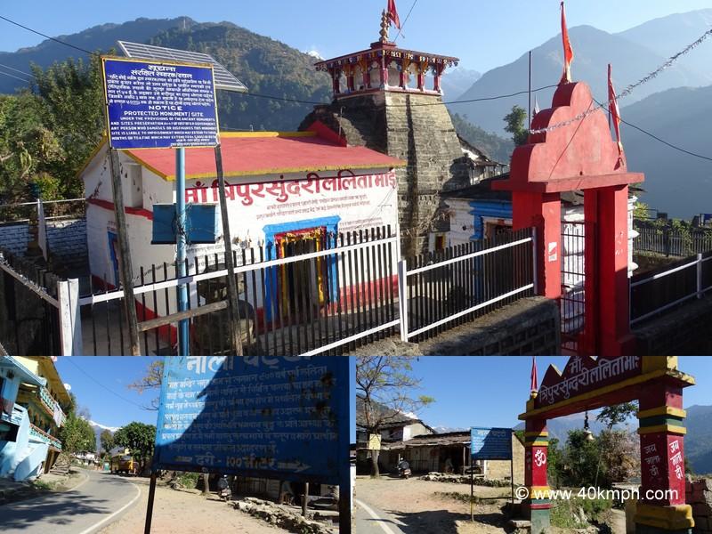 Maa Tripura Sundari Lalita Mai Temple at Nalachatti near Guptkashi, Uttarakhand