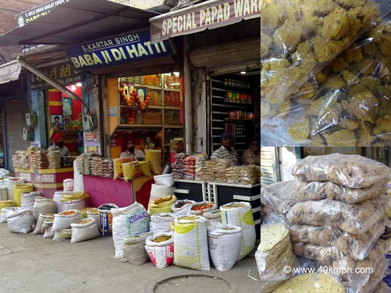 Papad Bazar, Amritsar, Punjab