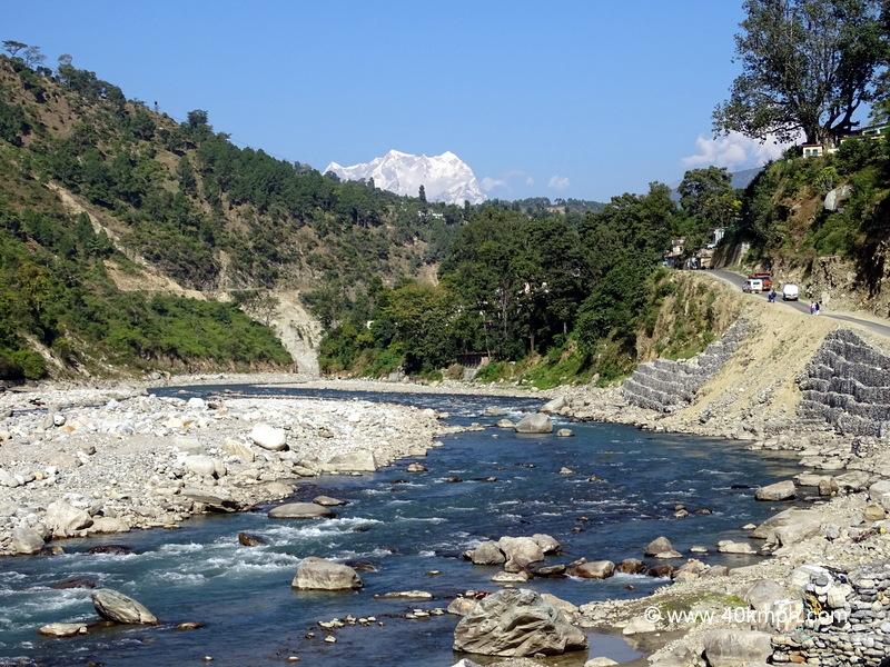View of Chaukhamba Peak from Agastyamuni (Rudraprayag), Uttarakhand