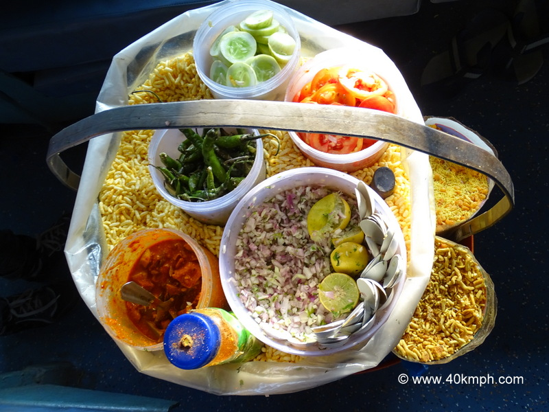 Bhel Puri as Evening Snack during Train Journey