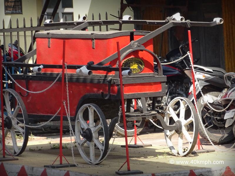Hand-Pumped Fire Engine at Khadki Railway Station in Maharashtra