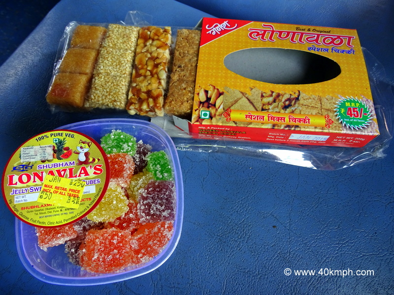 Jelly, Chikki as Sweets at Lonavala Railway Station in Maharashtra