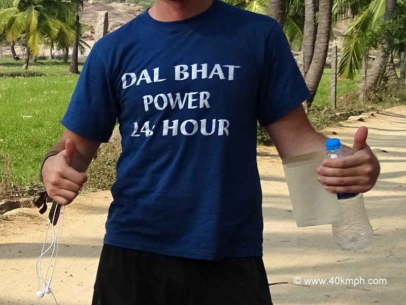 Nepali Saying About Dal Bhat on T-shirt