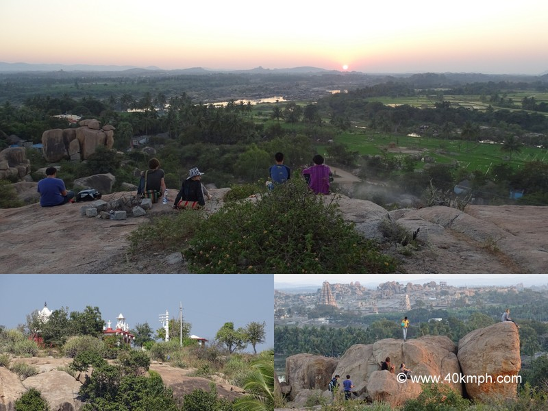 Sunset Point at Virupapur Gaddi near Hampi in Karnataka