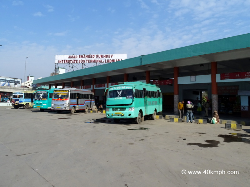 Amar Shaheed Sukhdev Interstate Bus Terminal in Ludhiana, Punjab