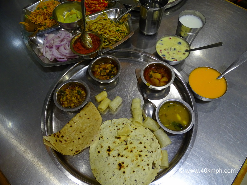 Gujarati Traditional Thali at Geeta Lodge Near Railway Station, Junagadh, Gujarat