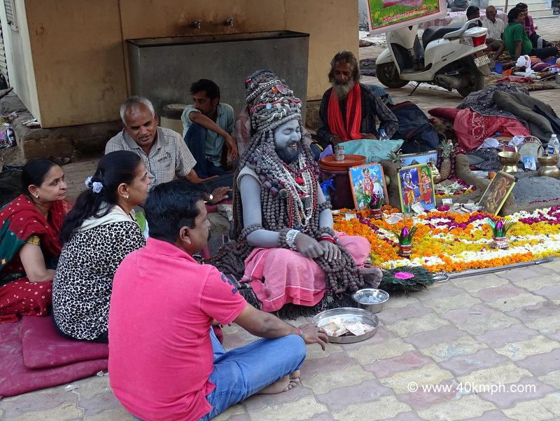 Naga Baba Laden with Beads at Bhavnath Fair 2015 in Junagadh, Gujarat