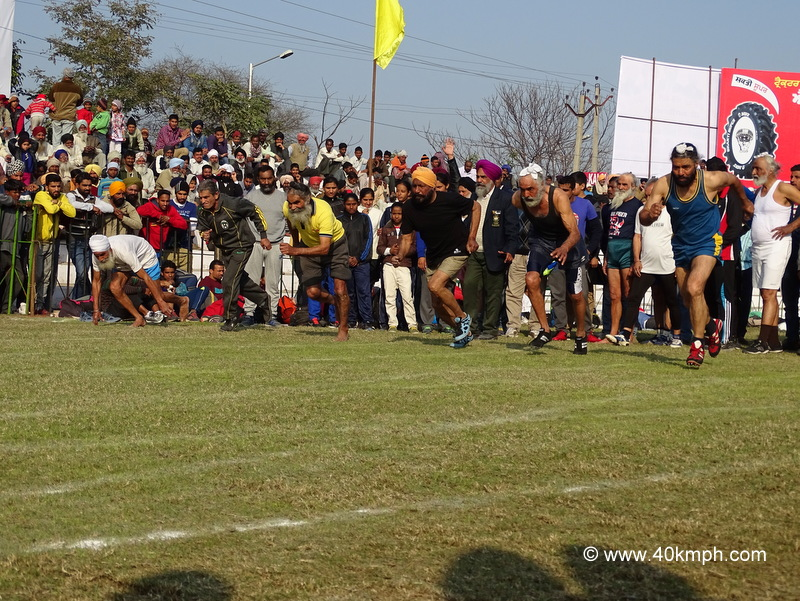 Old Gentleman's 100m Race at Kila Raipur Sports Festival 2015 in Punjab