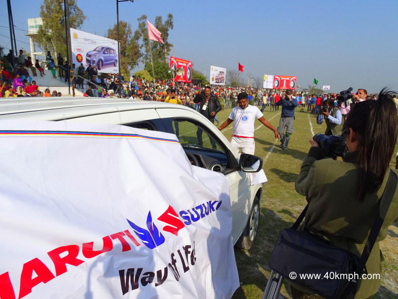 Pulling Car with Ears at Kila Raipur Sports Festival 2015 in Punjab