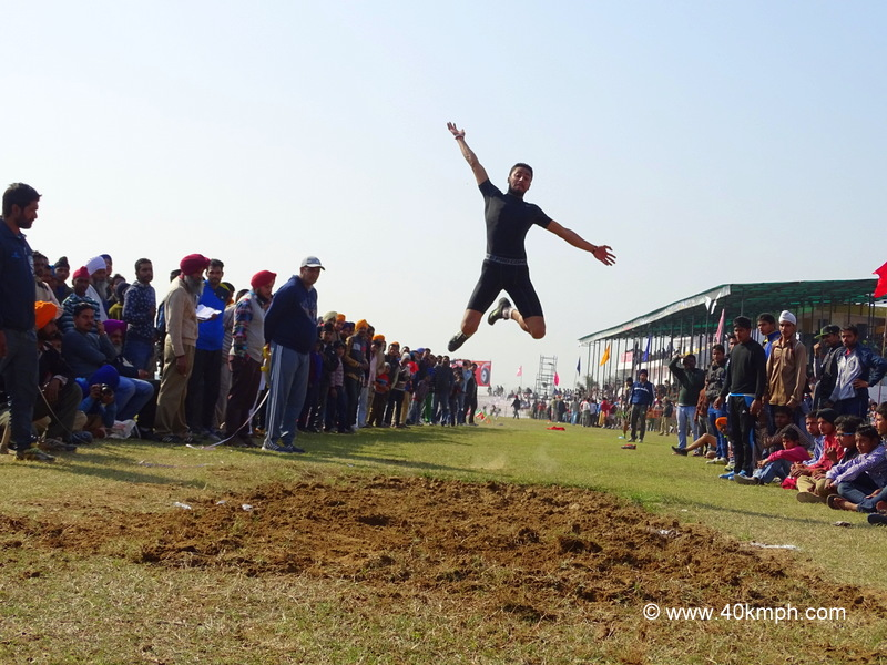 Under 19 Long Jump Event at 79th Kila Raipur Sports Festival in Punjab