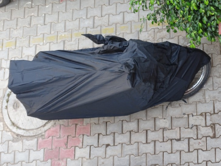 Double Jumbo Black Garage Cover for RE Motorcycle