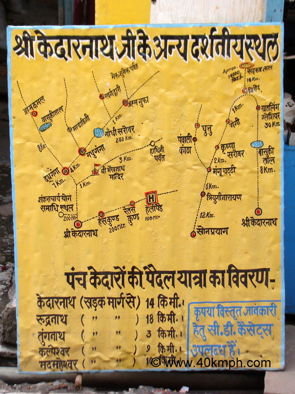 Tourist Sights In Around Kedarnath in Uttarakhand