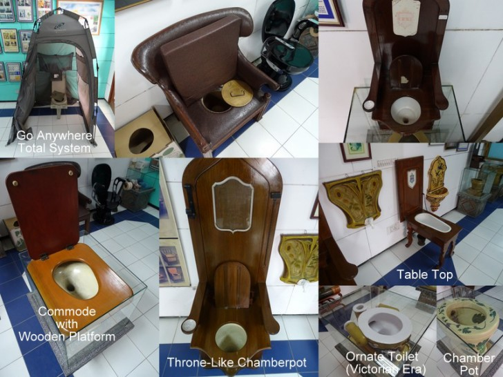 Different Types of Toilets Used Around The World at Sulabh Museum, New Delhi