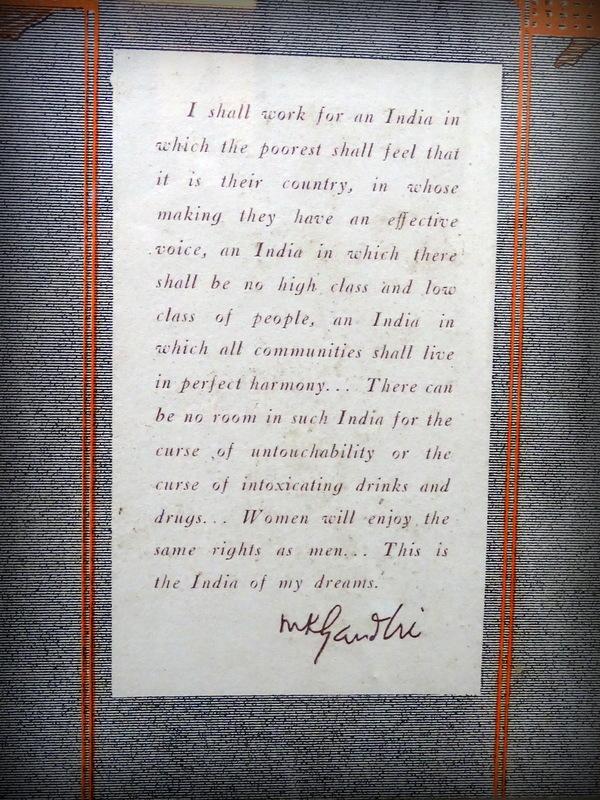India of My Dreams - Mahatma Gandhi Quote