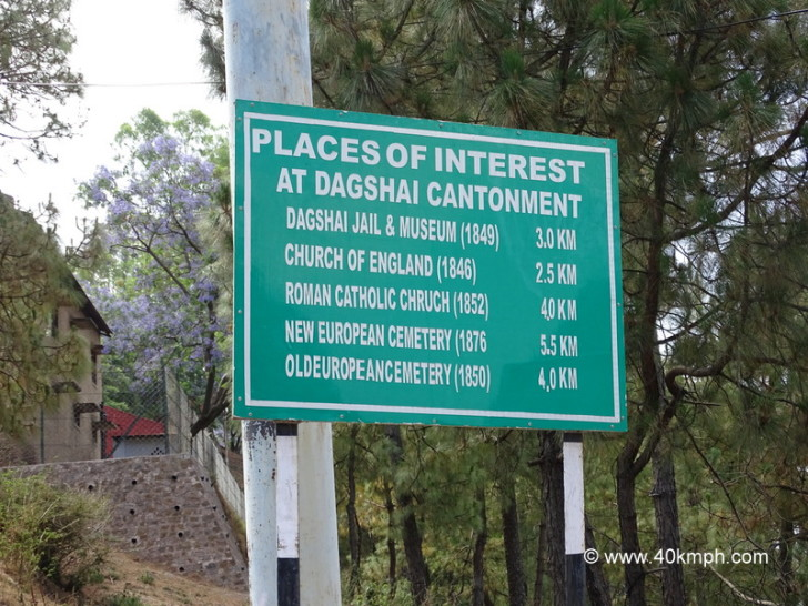 Places of Interest at Dagshai in Himachal Pradesh