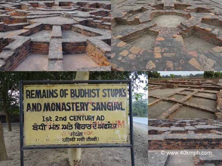 Remains of Buddhist Stupas and Monastery in Sanghol, Punjab