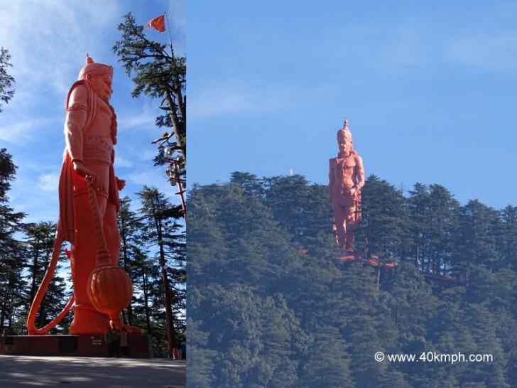 108 Foot High Idol of Hanuman at Jakhu temple in Shimla, Himachal Pradesh