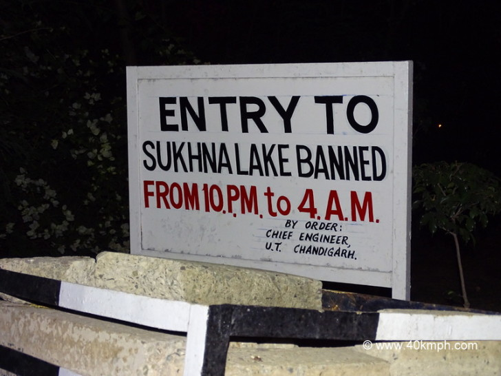 Closing Timings for Sukhna Lake in Chandigarh