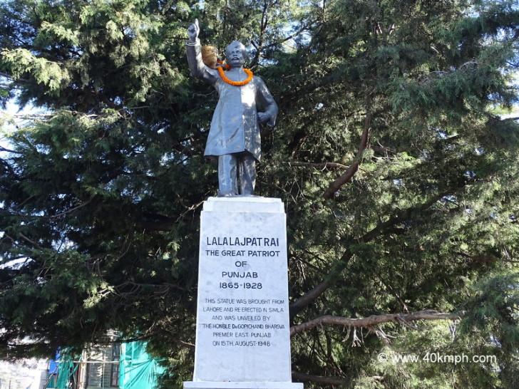 Lala Lajpat Rai Statue in Shimla, Himachal Pradesh
