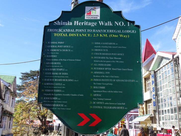 Shimla Heritage Walk No. 1