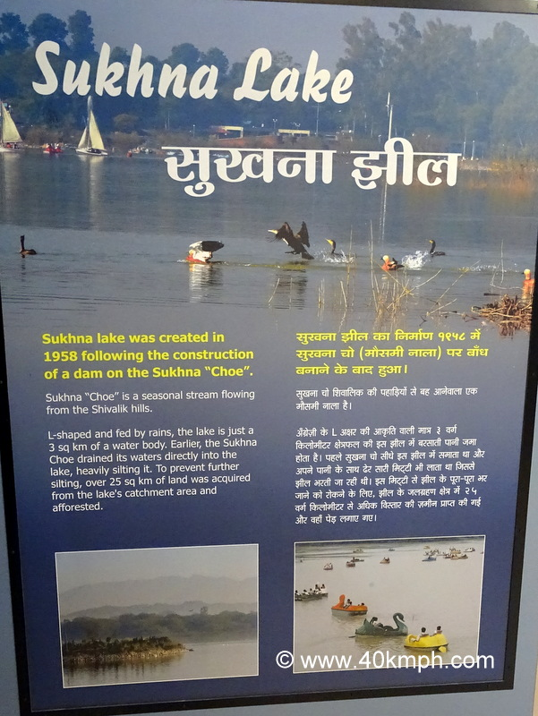 When was Sukhna Lake Created