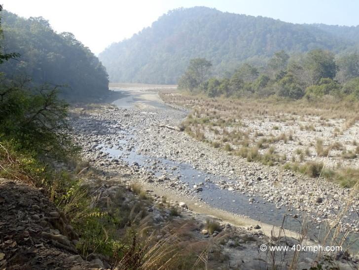 Ramganga River at Dhikala Zone, Corbett National Park in Uttarakhand