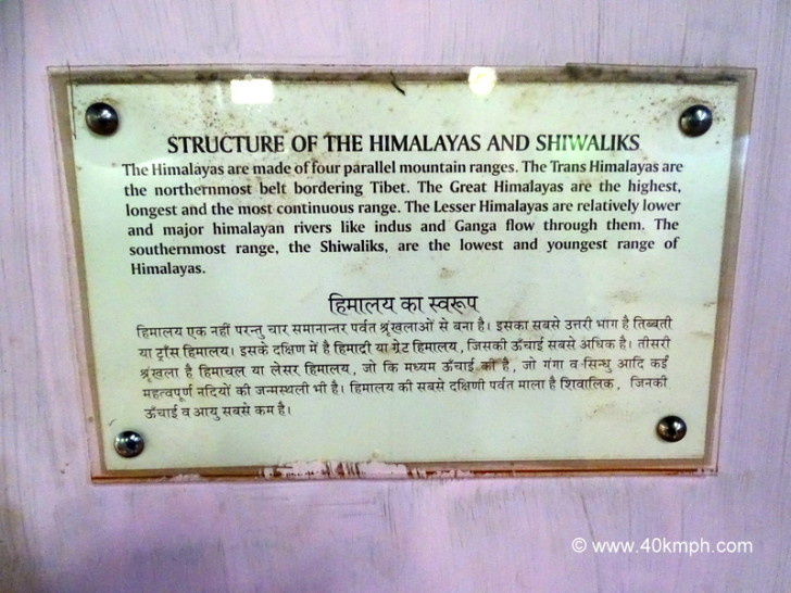 Structure of The Himalayas and Shiwaliks