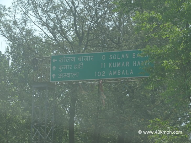 Solan to Ambala Distance