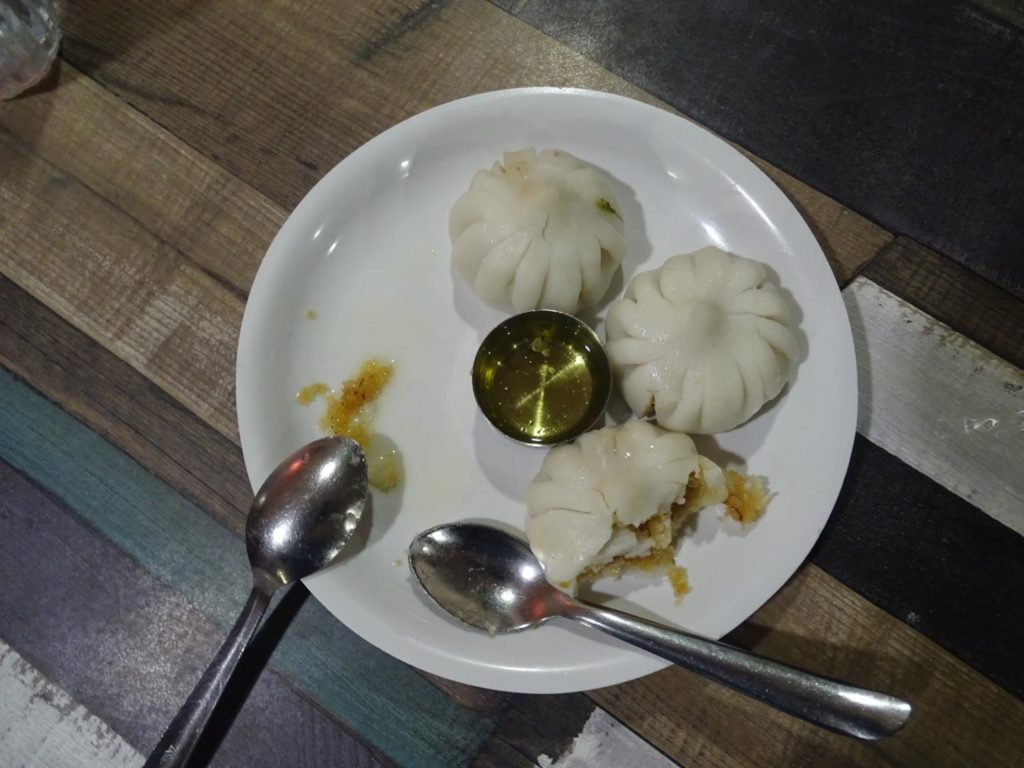 Modak with Pure Ghee at Aaswad Restaurant