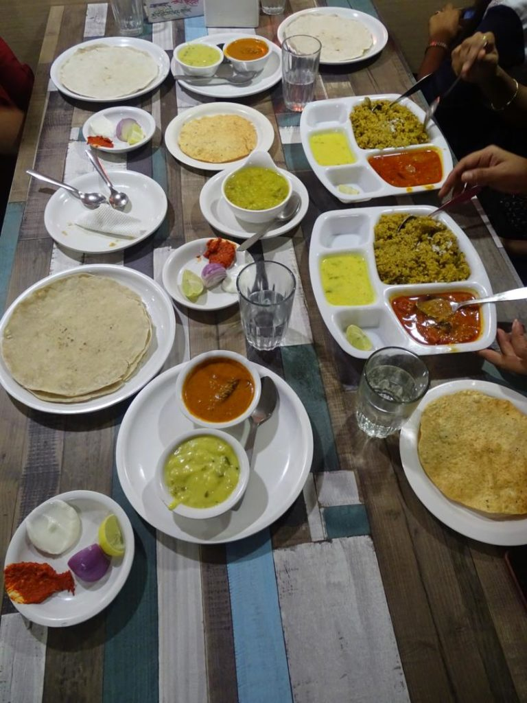 Vegetarian Food at Aaswad Restaurant