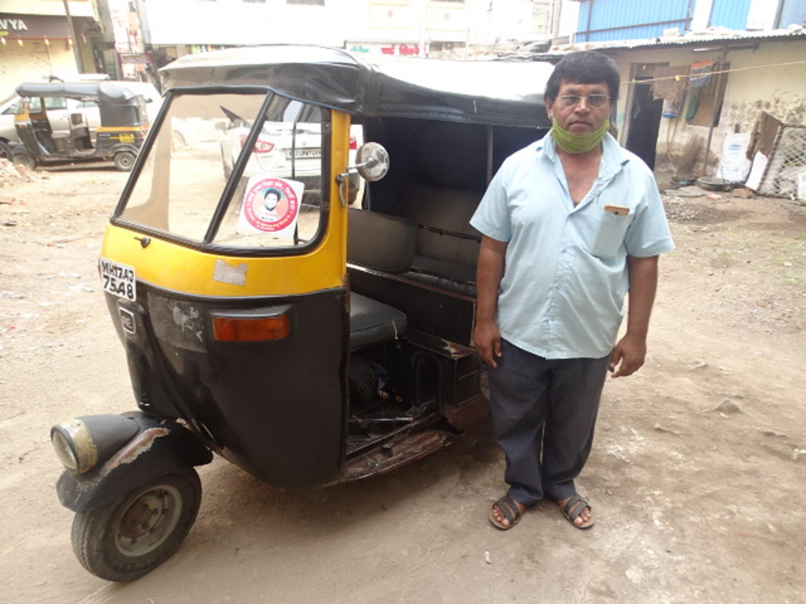 Subhash's Petrol Auto Rickshaw in Shirdi, Maharashtra, India