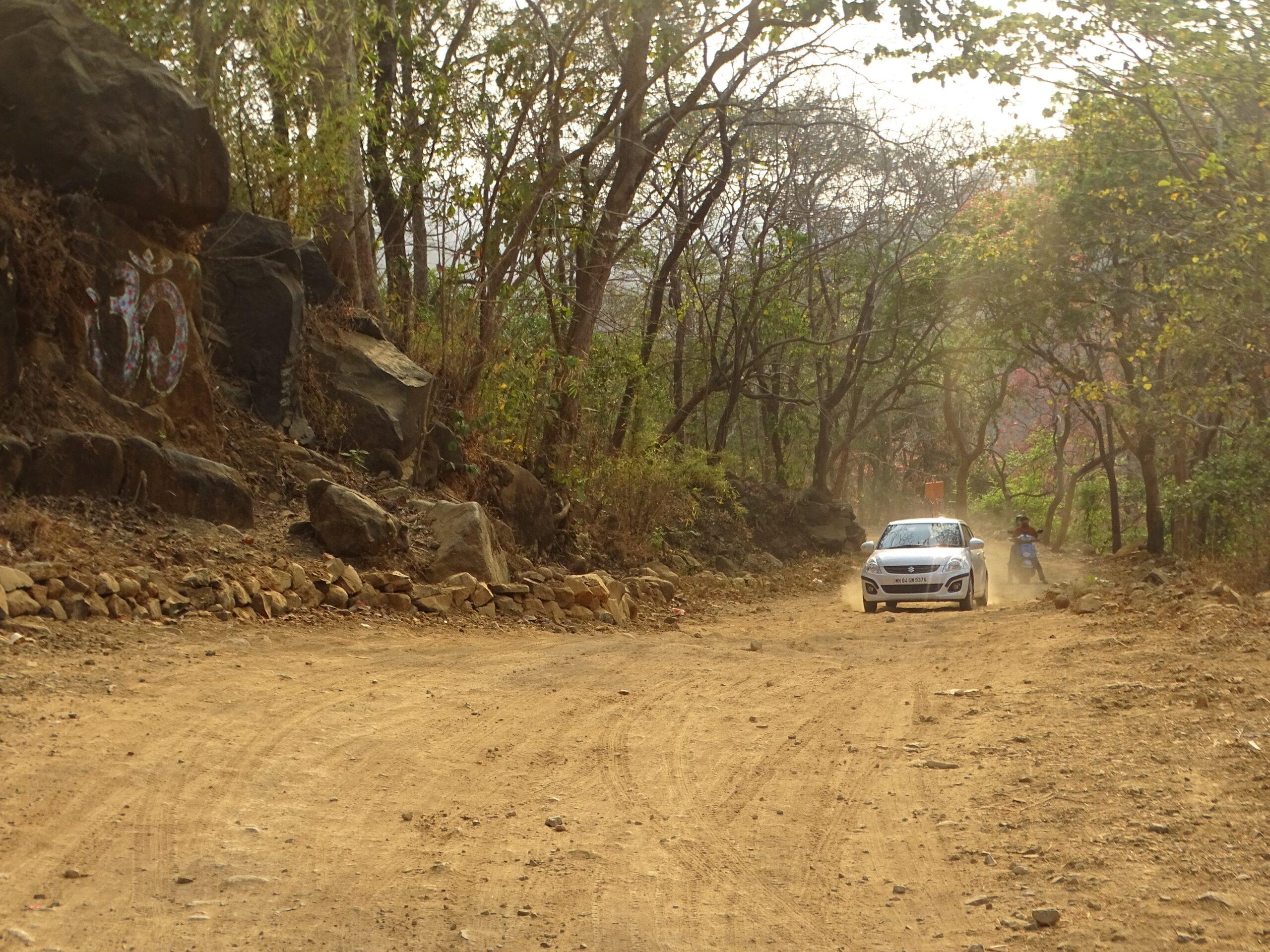 Car at Tungareshwar National Park, Vasai East, Palghar, Maharashtra, India