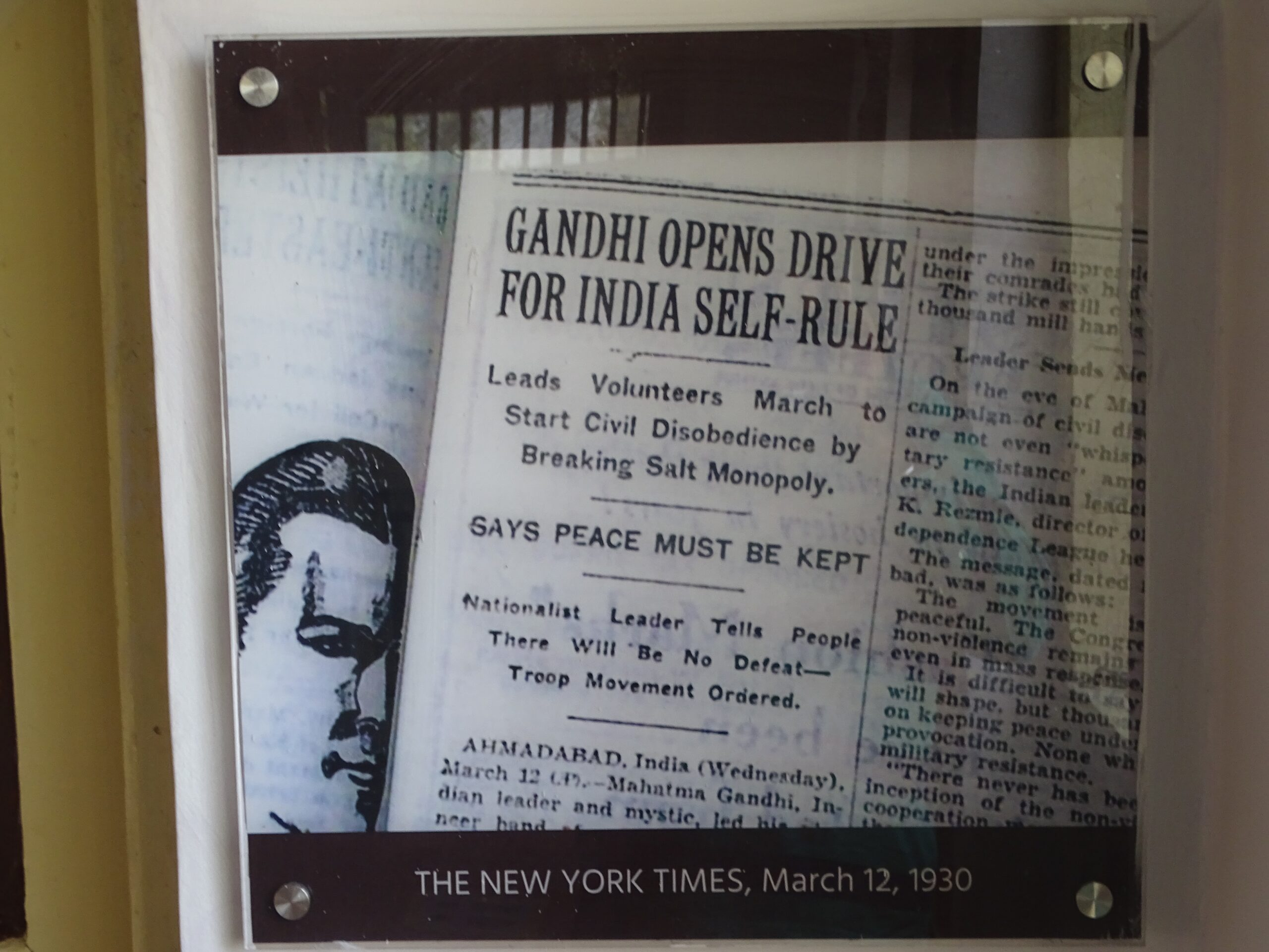 March 12, 1930 - The New York Times Article on Mahatma Gandhi