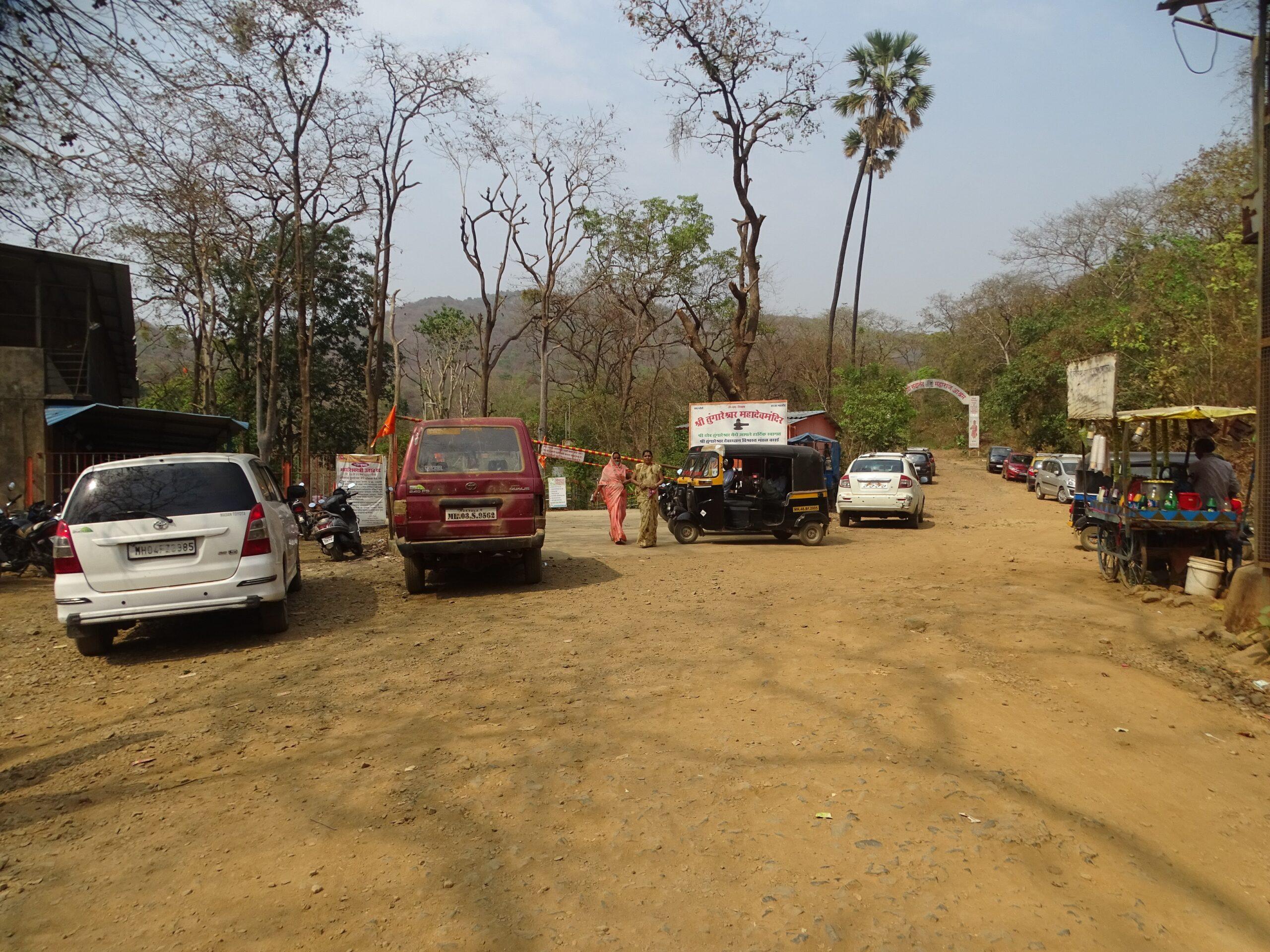 Parking Area at Tungareshwar Temple (Vasai East, Palghar, Maharashtra, India)