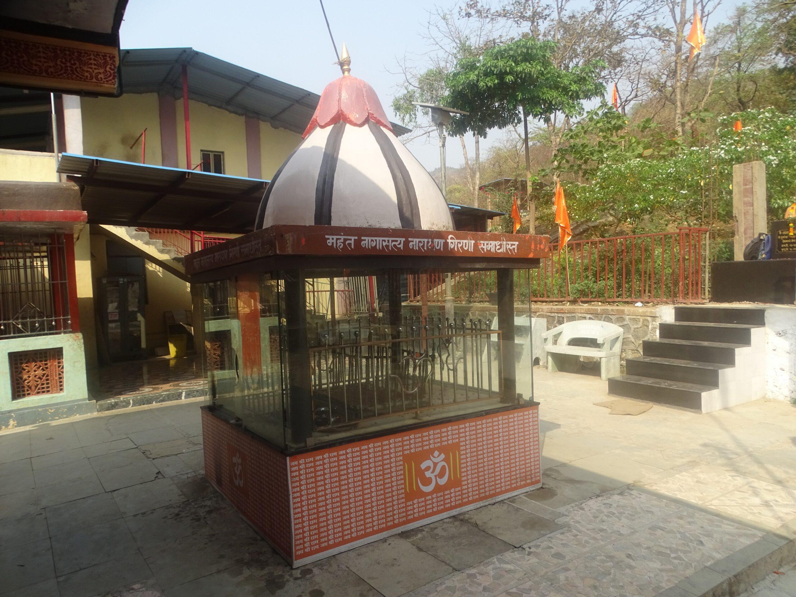 Samadhi of Mahant Nagasatya Narayan Girni at Tungareshwar Temple, Vasai East, Palghar, Maharashtra, India