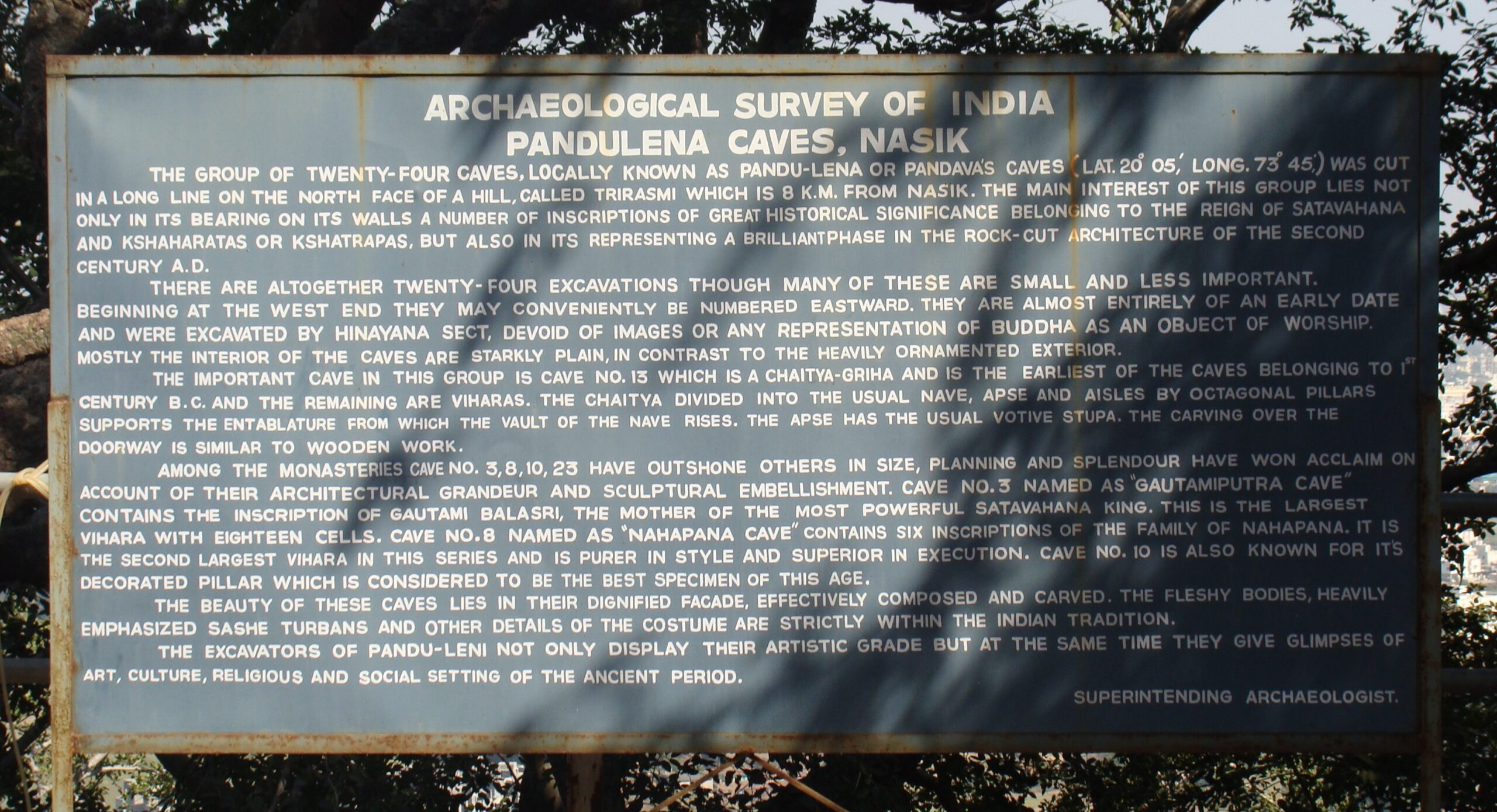 History of Pandulena Caves (Nashik, Maharashtra, India)