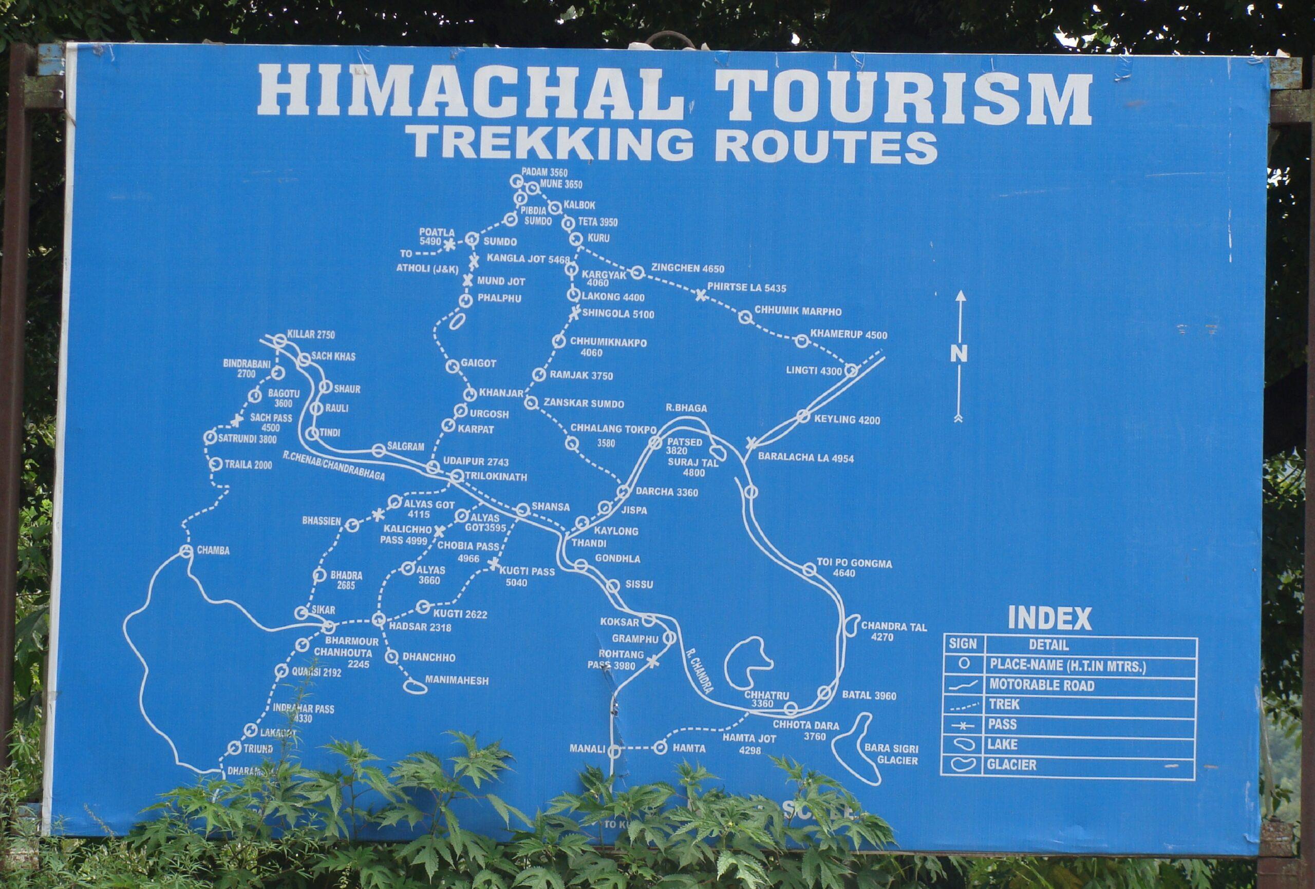 Trekking Routes in Himachal Pradesh, India